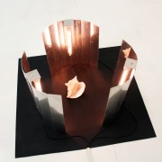 A short of shield, 2012, lampade, conchiglia / lamps, shell, 100x100x50cm, PHOTO COURTESY: Galleria Tiziana di Caro, PHOTO credit: Mimmo di Caro