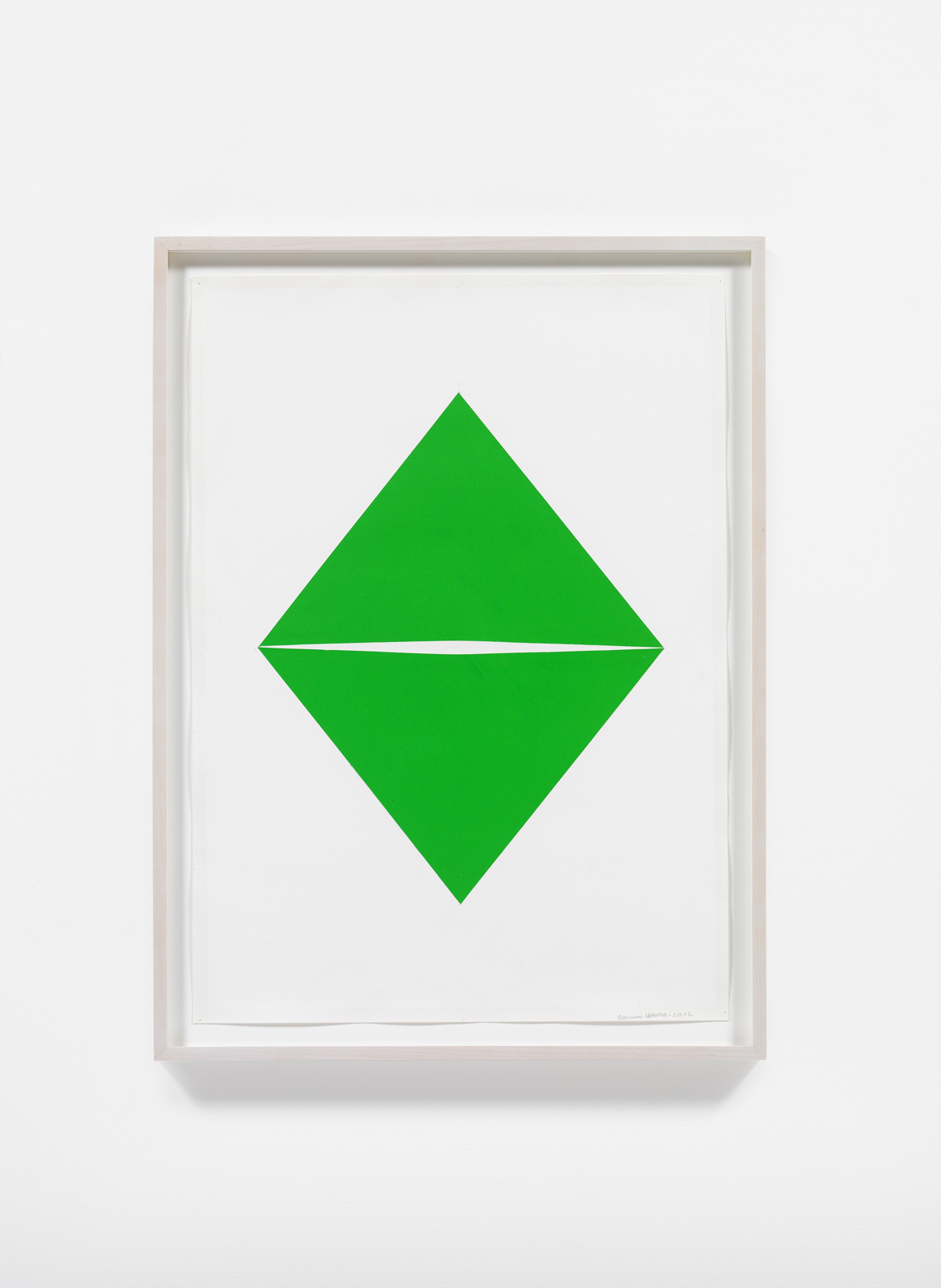 Carmen Herrera, Untitled, 2012. Acrylic and pencil on paper. Courtesy the artist and Lisson Gallery