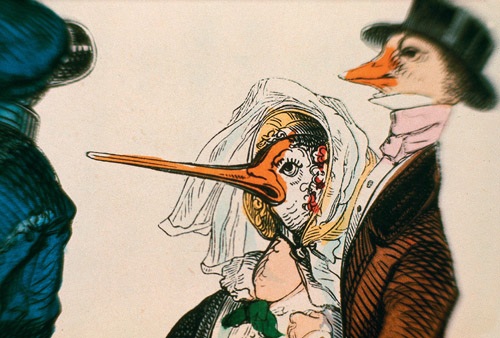 Marcel Broodthears - Caricatures - Grandville, 1968