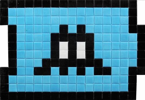 Invader, Black Extension, 2009 - Mosaico su pannello, 24x34 cmCollezione privata