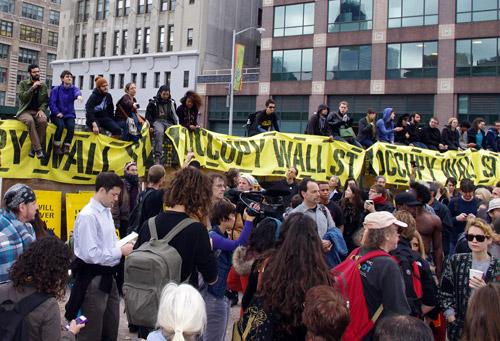 Occupy Wall Street Manifestanti a NewYork