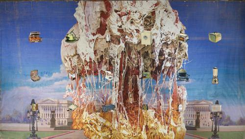 Jim Shaw, Submarine Wharf - XXXL Painting
