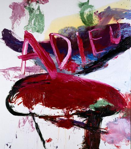 JULIAN SCHNABEL Adieu, 1995 Olio e resina su tela, cm 274x243 Collezione privata