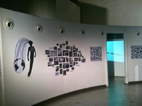 L'Uomo Elettronico, ADD Festival 2011, Roma, Macro Testaccio: facciata e interno dell'installazione. Curtesy of: Giulia Leporatti