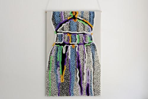 Raluca Andreea Hartea, Credevo in te come si crede a un sogno, 2012. Acrilico smalto su poliestere siliconato su tela, cm 114x73