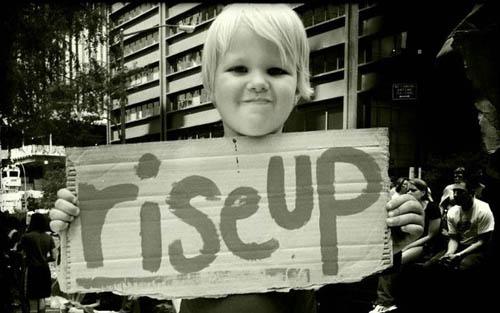 Foto da Occupy Wall Street pubblicata su Facebook