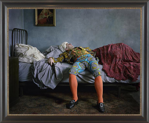 Yinka Shonibare, MBE Fake death picture (the suicide - Manet), 2011