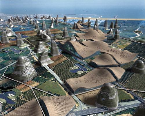 Vicente Guallart, The re-naturalisation of territory (Terragona 2375). Modello virtuale 3D