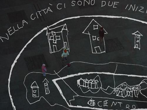 Ottonella Mocelline e Nicola Pellegrini, Forse possiamo anche fare una mappa per perdersi, veduta di Piazza Libertà