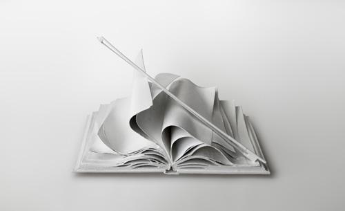 Lorenzo Perrone, 2013, Come Musica. Bronzo bianco, misure 90 x 60 x 45