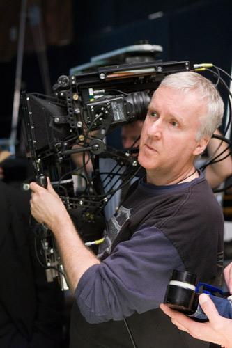 James Cameron durante le riprese del film Avatar