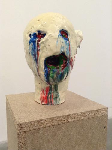 Alis/Filliol, Alieno, 2013. Una di otto opere della serie (particolare). Plastilina, truciolare, 143x22x22 cm cad.