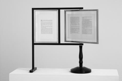 Rodney Graham, Reading machine for Lenz, 1993