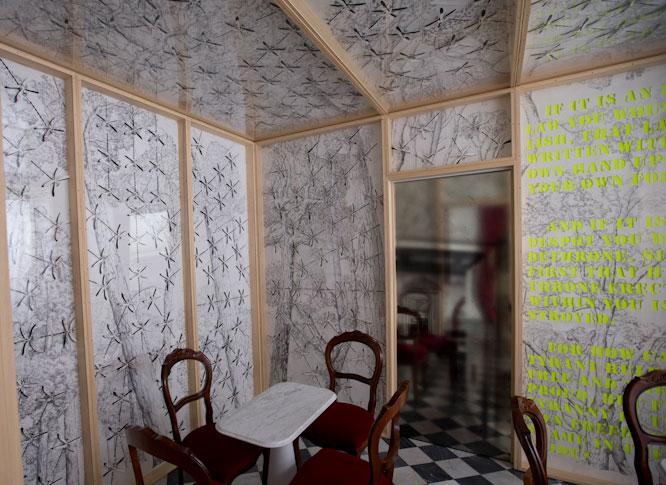 Pietro Ruffo, Negative Liberty, installazione presso Caffè Florian, Firenze