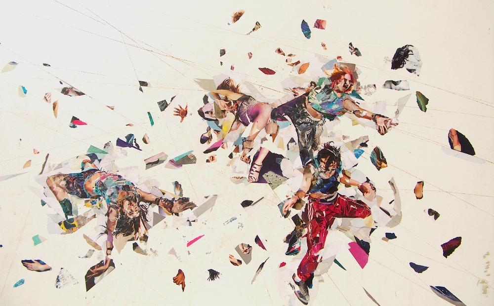Silvia Beltrami, Rave 18, 2012. Collage su faesite, cm 60x100