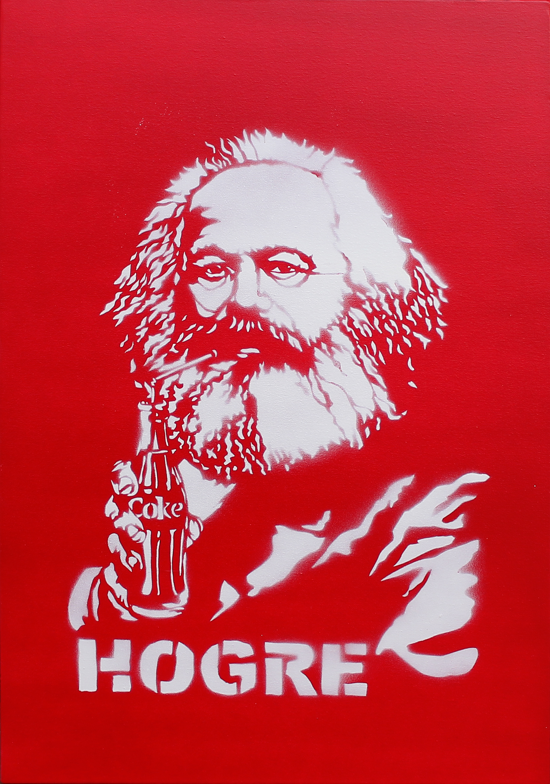 Hogre,  Marx is drinking a coke