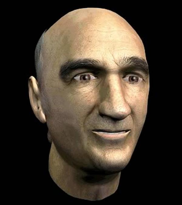 Sterlac, Prosthetic Head, computer animation del volto di Sterlac, 2003