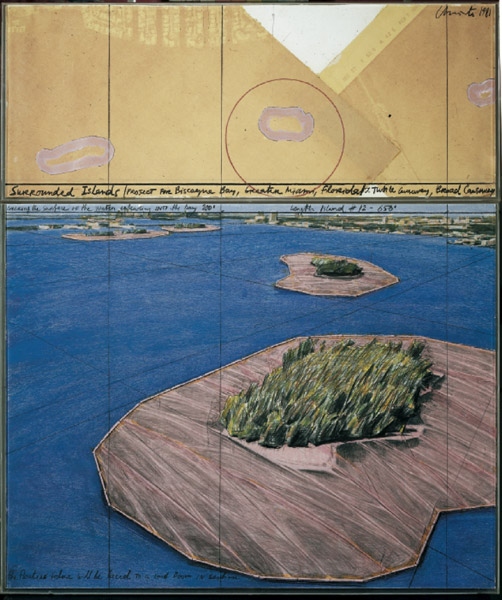 Christo  Sorrounded Islands - Project for Biscayne Bay, Greater Miami, Florida