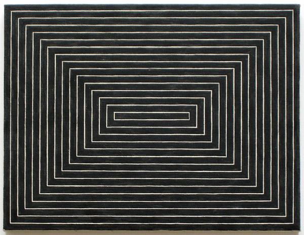 Frank Stella, Tomlinson Court Park I, 1954 smalto su tela, 220 x 280 cm