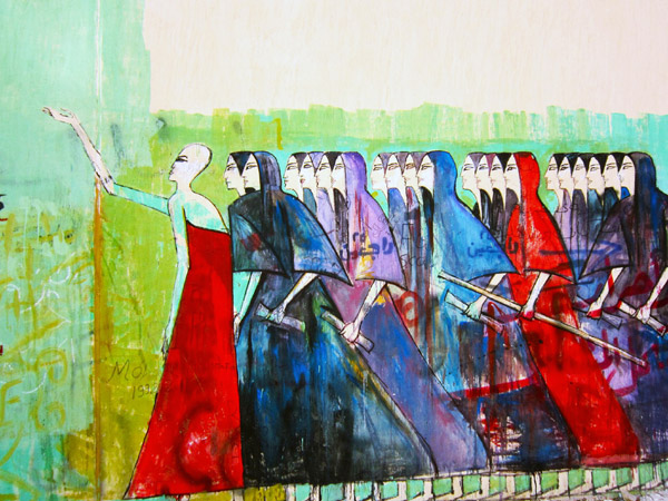 Muro dipinto da Alaa Alwad Foto: courtesy of the artist