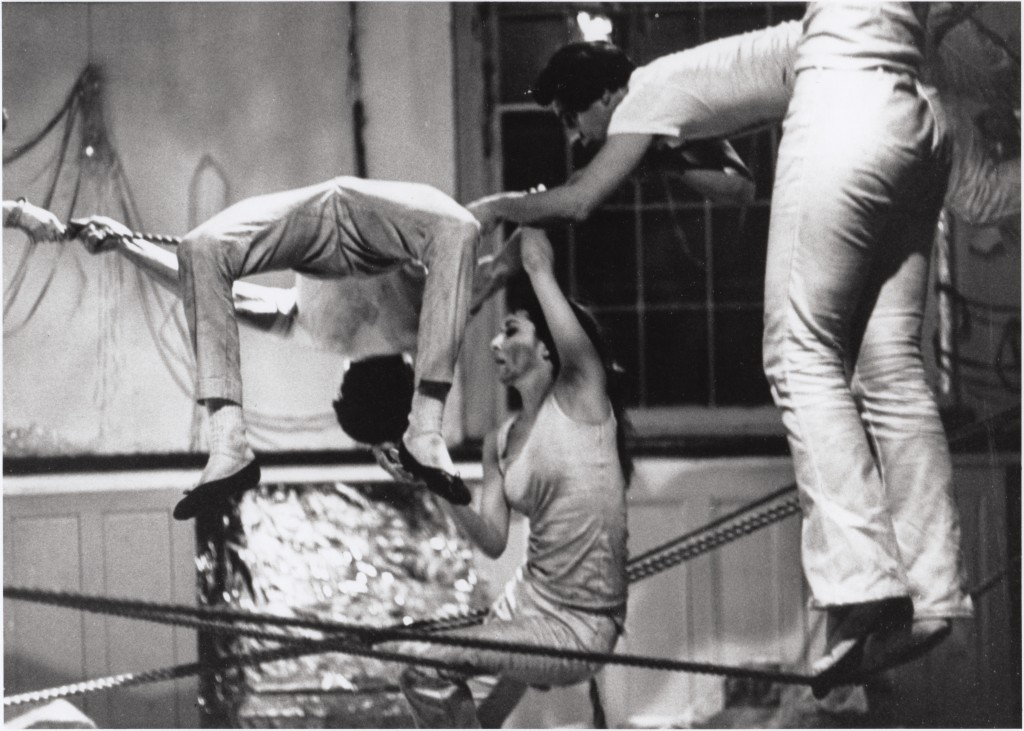 Carolee Schneemann, Water Light-Water Needle (St. Mark's Church) II, 1966, gelatin silver print, 20.2 x 25, [photograph by Terry Schutte, courtesy of Hales Gallery, C artist]