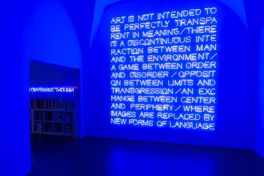 Maurizio Nannucci, Art is not intended to be perfectly transparent in meaning…