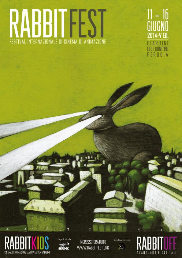 Locandina di RabbitFest disegnata da Marco Cazzato