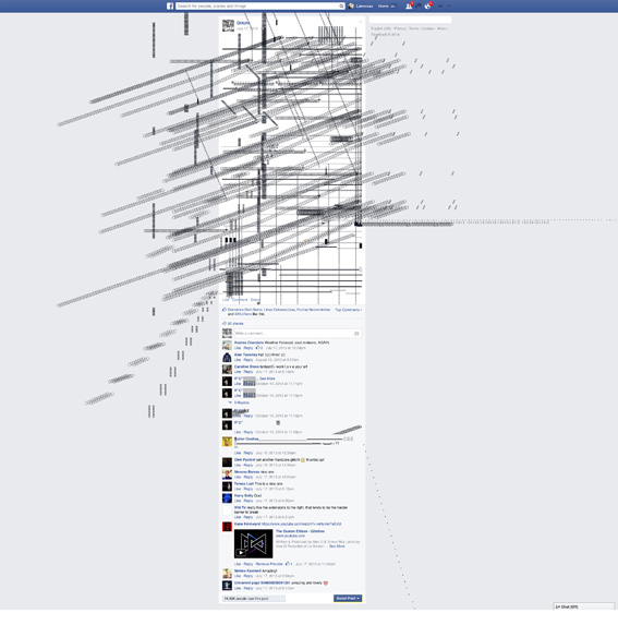 Glitchr, intervento su Facebook