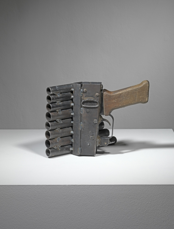 Pedro Reyes, Disarm (Pan pipes), 2013. Metal, 18x21x15 cm