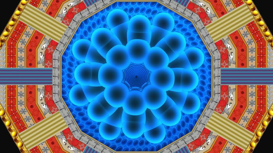 2.The God Particle, 2009, animazione 3D e colore a smalto su schermo al plasma,165x95 cm, Courtesy Gagliardi Art System (Torino)
