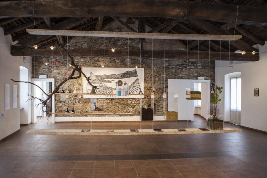 Allestimento del progetto La Signora Eugenia e il passero solitario, presso il Museo Tornielli. Foto Carlo Beccalli