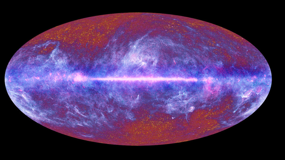 The microwave sky as seen by Planck fullwidth