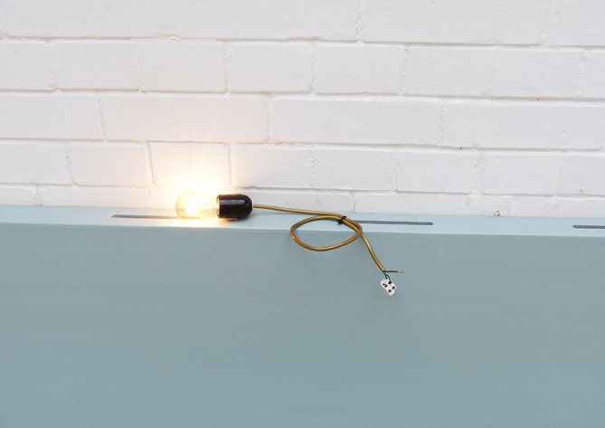 Elena Gavrisch Believe in Disbelieve, 2013 Light bulb in a bulb socket, cable approx. 20 cm long