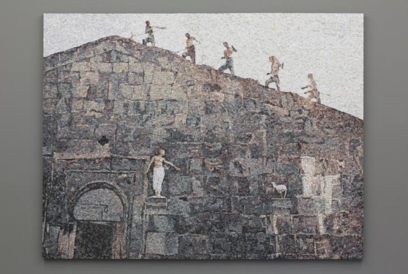 Facciata, 2014, mosaico in marmo, 200x262 cm