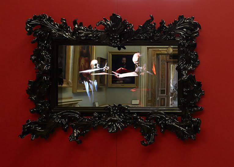 Mat Collishaw, Mat Collishaw - Black Mirror, installazione, 2014. Galleria Borghese. Foto Guido Harari