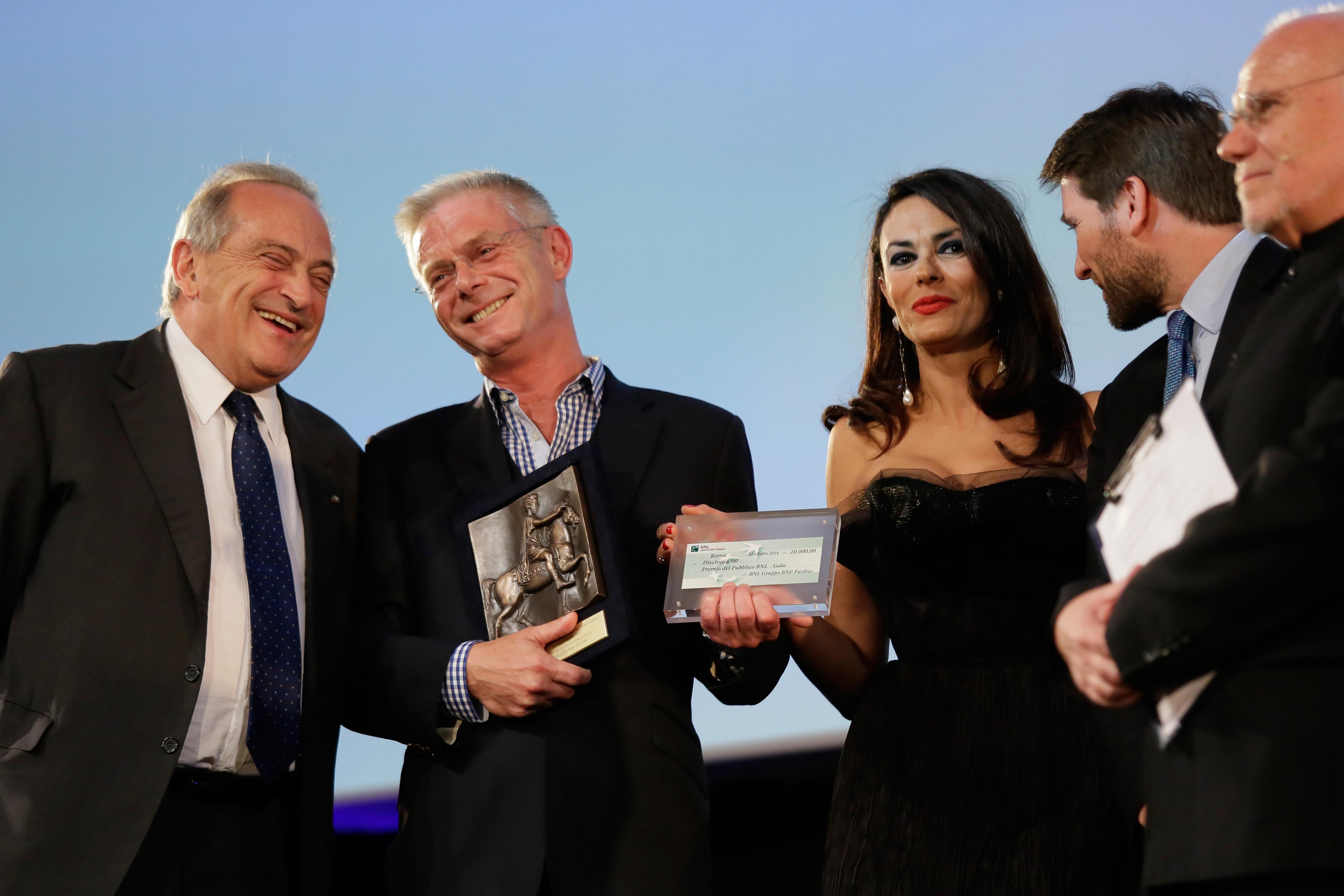 Stephen Daldry alla premiazione del suo TRASH, vincitore premio BNL GALA