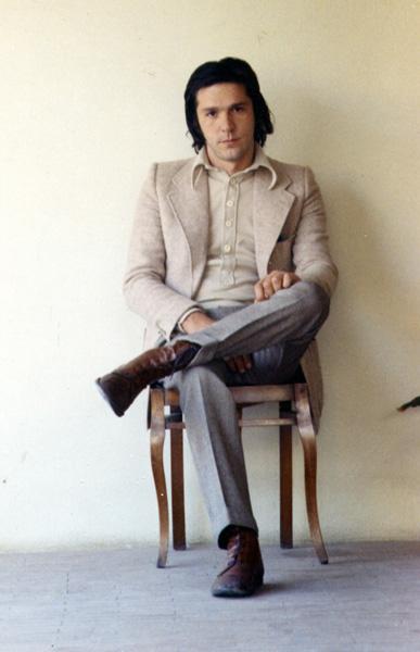 Franco Guerzoni fotografato da Luigi Ghirri, primi anni '70, Courtesy Eredi Ghirri
