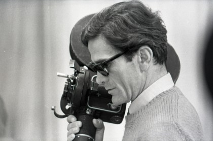 "Pier Paolo Pasolini on the set of ""Theorem"", 1968 © Angelo Novi / Fondazione Cineteca di Bologna"