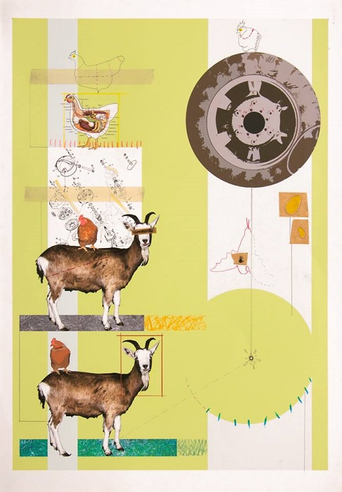 Pietro Ferri, Senza titolo, 2011, tecnica mista su stampa digitale, 70x100 cm