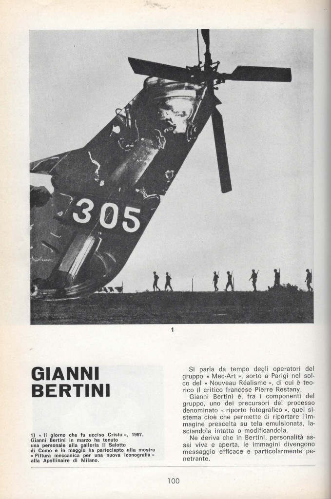 Gianni Bertini, Il giorno che fu ucciso Cristo, 1967