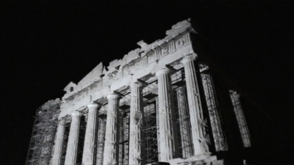 Bill Balaskas Parthenon rising 2011, VideoStill. Kalfayan Galleries