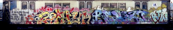 Zephyr & Revolt, wild style mature, photograph by Henry Chalfant, 1981