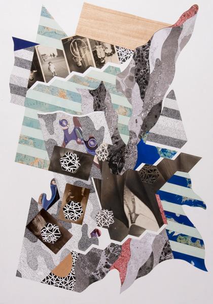 Umberto Chiodi, CROSSAGE XXVIII, 2013,cm100x70,T.M. su carta cotone, 2014, Courtesy Studio d'arte Cannaviello