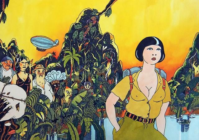 Copertina di Ada (Milano Libri 1979), 1979, cm 43x30, china e pennarelli. Archivio Quipos