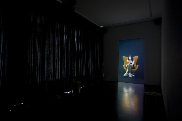 Andrea Fraser, Projection, 2008, installation view at Galerie Christian Nagel, Berlin, 2008