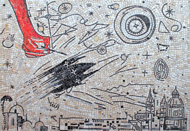 Enzo Cucchi, Senza titolo. Mosaico