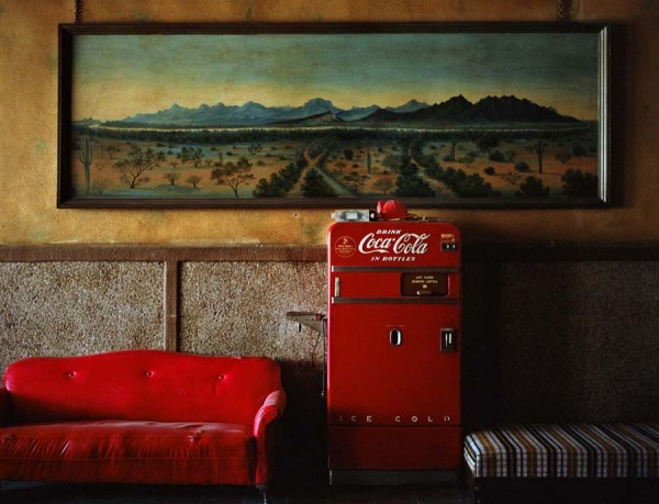 Wim Wenders, Lounge Painting # 1, Gila Bend, Arizona © for the reproduced works and texts by Wim Wenders: Wim Wenders/Wenders Images/Verlag der Autoren. 1983