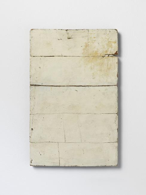 Lawrence Carroll. Untitled, 1985, olio, cera, tela su legno, 45,7x25,4 cm. Museo Cantonale d'Arte, Lugano. Donazione Panza di Biumo