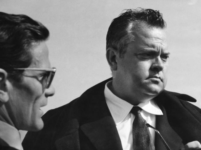 """P.P. Pasolini e O. Welles sul set de """"La ricotta"""""""
