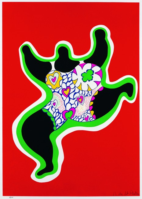 Leaping Nana Planche de Nana Power, 1970. 76 x 56 cm, sérigraphie sur papier vélin d'Arches Sprengel Museum, Hanovre, donation de l'artiste en 2000 © 2014 Niki Charitable Art Foundation, All rights reserved